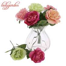 10pcs/lot Cheap Silk Artificial Blooming Night Rose Flowers Home Garden Wedding Decorative Flowers No Vase Artificial flower
