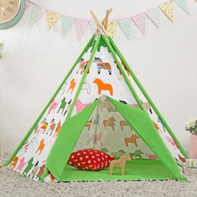 Children's toys play house Indian tent Pure cotton cloth tents of inside and outside of room child birthday tents  play hosse