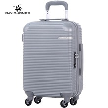 DAVIDJONES 20 inches hardside cabin luggage carry on trolly suitcase