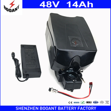 BOOANT Brand EU US Duty Free 48v 14ah for Bafang Motor Powerfull 1000W E-Bike Electric Battery Frog 48v with 2A Charger 30A BMS