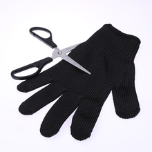 1 Pair Outdoor Hunting Fishing Gloves Cut Resistant Protective Knife Anti-slip Metal Mesh Anti-cutting Breathable Gloves(China)