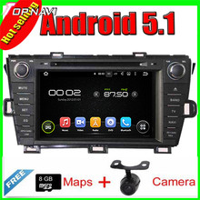7'' Quad Core Android 5.1 Car GPS For  Toyota PRIUS  2009-2013 left driving  With Radio Multimedia Video Mirror Link 16GB Flash