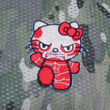Hello Kitty Attack on Titan Kitty Military Tactics Morale Embroidery patch Badges B3170