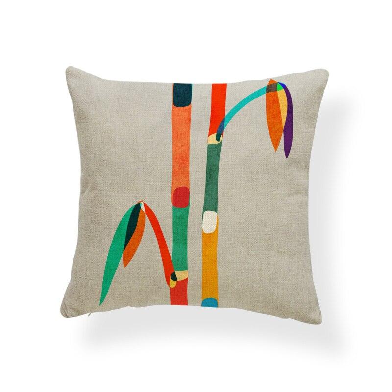 Seawood Fashion Colorful Sunrise Pillow Case Waist Support Cushion Cover Car Home Sofa Decor