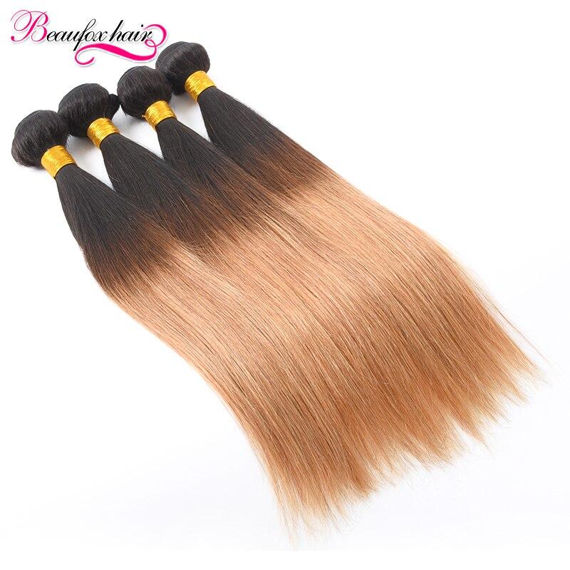 T1B/27 Ombre Hair Straight Ombre Brazilian Hair 4 Bundles Ombre Human Hair Bundles 7A Unprocessed Brazilian Virgin Hair Straight<br><br>Aliexpress