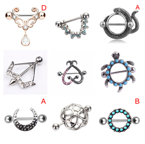 Hot 1Pc Vintage Nipple Piercing Boho Bar Body Jewelry Rings 316L Surgical Steel Sliver Color Nombril Bar Nipple Barbell Piercing