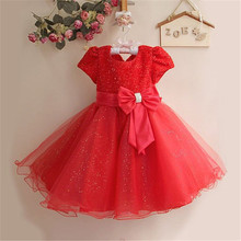 MQA 1272 baby girl clothes kids girl dress children girl beautiful princess party casual design girl wear 2017 new arrival