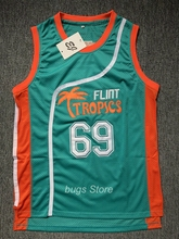 EJ Downtown Malone #69 Flint Tropics Movie Semi Pro Basketball Jersey Green(China)