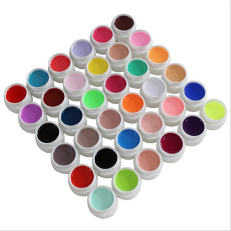 Follome 1 Pcs 36 Color Solid Nail Gel Polish  Permanent Varnishes Beauty Crystal DIY Manicure Art  Painting Glue Tool<br>