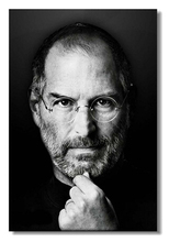 Hot Sale! Fashion Home Decoration Custom Steve Paul Jobs Wallpaper Stylish PP Gule Poster(50x76cm) Wall Sticker K98(China)