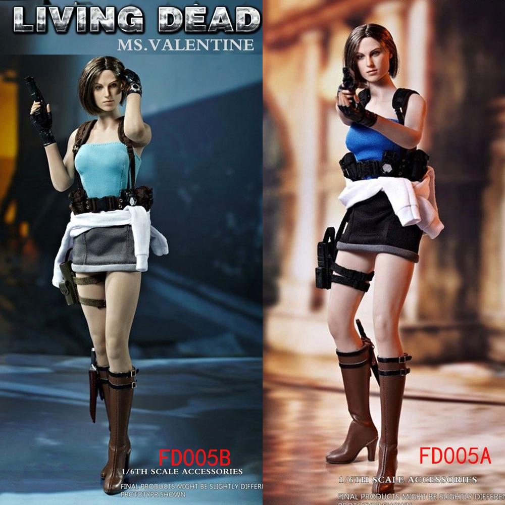 Hot Heart FD005b 1//6 Living Dead Jill Valentine Head Sculpt /& Clothing Set Model