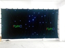 3*6m  white falling star led curtain on china market free shipping