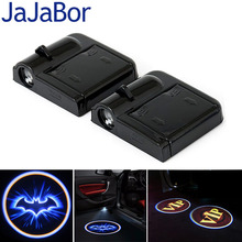 JaJaBor Universal Wireless Car Door Welcome Light Logo No Drill Type LED Laser Ghost Shadow Projector Lamp Batman VIP Logo(China)
