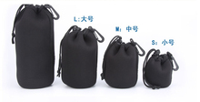 Storage Bags Best price Matin Neoprene waterproof Soft Camera Lens Pouch bag Case 4 pcs Size XL L M S 20pcs(China)