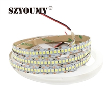 SZYOUMY 10mm Width 5m Single Row 2835 1200 SMD LED Strip, 12V Flexible 240 LED/m LED Tape White/Warm White