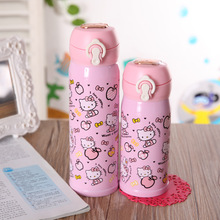 2017 new creative lovely Hello Kitty cup of children with stainless steel cup and Creative Cup Vacuum Flasks & Thermoses