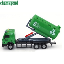 CHAMSGEND Modern 1:43 Racing Bicycle Shop Truck Toy Car Carrier Vehicle Garbage Truck Toy For Kids Children Gift Feb15