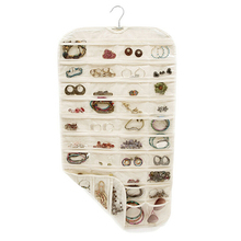 Latest Best 80 Pockets 2 Side Hanging Jewelry Accessories Organizer Closet Clear Storage Bag T6YU