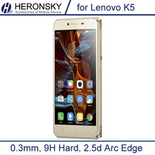 0.3mm Tempered Glass for Lenovo k5 k5+ A6020 9H Hard 2.5D Arc Edge High Transparent Screen Protector with Clean Tools