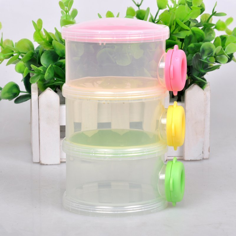 Portable 3 Layers Seal Baby Milk Powder Baby Feeding Box Portable Milk Powder Formula Dispenser Food Storage Container Box Bebek