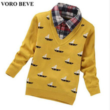 VORO BEVE New Autumn 2017 Children Sweaters Shirts Boys Knitted Sweater Pullover Sweater Kids Clothing