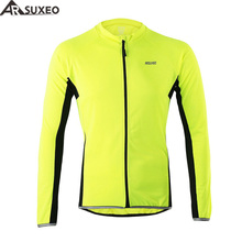 ARSUXEO 2017 Outdoor Sports Cycling Jersey Spring Summer Bike Bicycle Long Sleeves MTB Clothing Shirts Wear Bike Jersey(China)