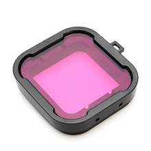 Polarizer Purple Color Underwater Diving UV Lens Filter For Gopro Hero 3+ Mini Camcorder Accessories(China)