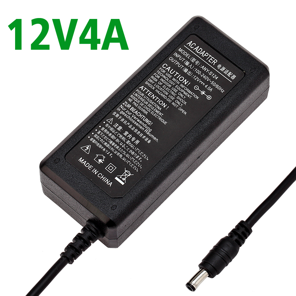 ADX-7MBK4NA-12 Power adaptor AC 100-240V to DC 12V 4A Power Supply Adapter UK,US,EU,AU plug,New lcd adapter,12V4A FULL AMPERE(China (Mainland))