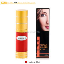 Hao Tattoo JX23 Natural Red Eyebrow Permanent Makeup Pigment Vacuum Sterile Cosmetic Tattoo Ink 45ml Makeup Supplies