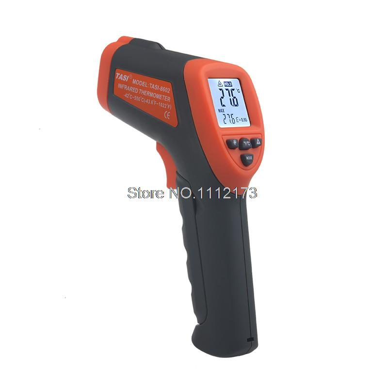 Brand New IR Thermometer TASI-8602 LCD display non contact Digital infrared thermometer with laser -42C~550C degree<br><br>Aliexpress