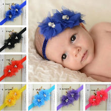 Retail     Headband double net Flower with diamond Hairband  hair accessories  Drop shipping