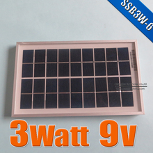 3W 9V Polycrystalline silicon Solar Panel used for 6V photovoltaic power home system, 3Watt 3WP 6VDC PV Poly solar Module