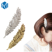 2017 Women Leaf Hair Clip Vintage Hairpins Barrette Headwear Metal Leaves Girl Hairgrip Hair Accessories Female Retro Hair Clasp