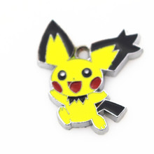 2 Pocket Monsters silve alloy Pokemon pikachu dangle charms lobster clasp pendant DIY Bangles neckcace jewelry - Sheshang Life Store store