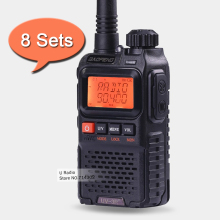 8PCS Baofeng UV-3R Plus Mini Walkie Talkie VHF/UHF 136-174MHz 400-470MHz Two Way Radio Dual Band Professional Handheld Radios(China)