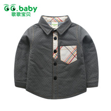 Winter Warm Baby Boys Clothes Shirts Girl Shirt Toddler Blouses Long Sleeve Plaid Shirt Boy For Kids Clothes Boy Blouse Children(China)