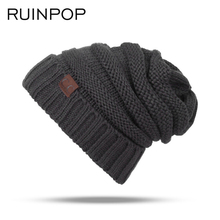 RUINPOP Children Winter Hats Cute Boy Girls Skullies Beanies Cap Casual Cotton Beanie Knitted Hats Autumn Kids Warm Hat Beanies(China)