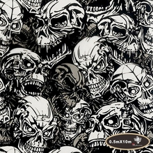 Special Offer NO.HYA-724,Width 50cm,hydro  scary  hydrographics water transfer printing skull  Hydrographic film for car decor
