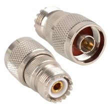 1PC  Silver Plated RF Coxial Connectors RF UHF Connector Adapter UHF Female free shipping VC479 P
