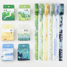 1.5cm*7m 24 kinds weather washi tape sticker kawaii scrapbooking planner masking tape DIY notebook decoration tape stationery