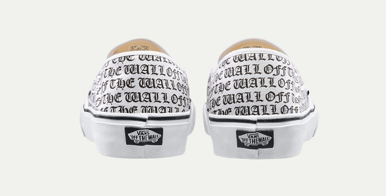 Detail Feedback Questions about White Letter Printed Vans Sneakers ... 4a07c917788a