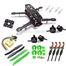 Mini 250 250mm ZMR250 Carbon Frame kit CC3D EVO 2204 2300KV Emax 12A Blheli 5030 Prop for Quadcotper