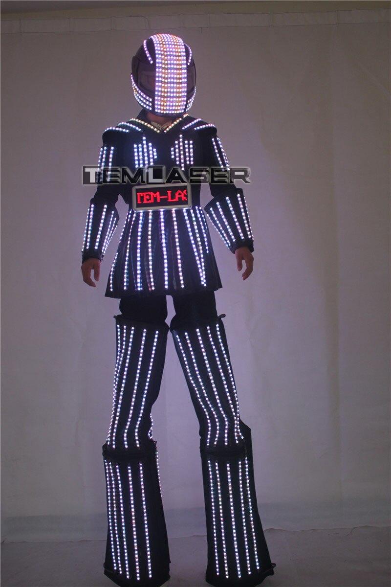 LED Robot Costume LED Clothing Light suits Robot suits Kryoman robot david guetta robot Size/ color customized