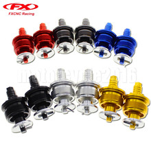 37MM FXCNC CNC Aluminum Motorcycle Preload Adjustable Fork Cap Bolts A Pair 6 Colors For Honda Black Gray Gold Blue Silver
