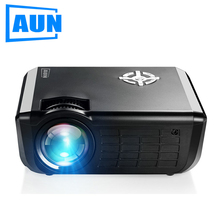 AUN HD LED Projector, 1280x720, 2000 Lumens, Smallest 720P Multimedia Video Projector for Home, Theater Set in HDMI SD USB,M17(China)