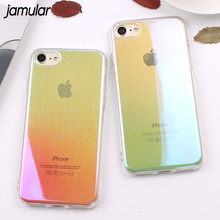Buy JAMULAR Simple Gradient Color Transparent Phone Case iPhone 8 7 Plus Clear Hard Bling Back Cover iPhone 6 6s Plus Cases for $2.77 in AliExpress store