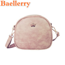 Baellerry New Fashion Women Handbags Messenger Bags PU Leather Shoulder Bag Lady Crossbody Mini Bag Female Crown Evening Bags(China)