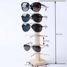 Multi Layers Wood Sunglass Display Rack Shelf Eyeglasses Show Stand Jewelry Holder for Multi Pairs Glasses Showcase(China)
