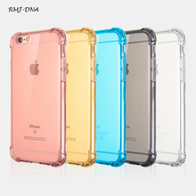 Luxury Transparent Tpu Anti-shock Back Cover For iPhone 5 5s 5G se 6 6S 7 7Plus Warmest Cell Phone Protector Cases Free shipping(China)