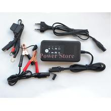 12V smart battery charger with pulse charging & repair function, 12V motorcycle car battery charger with SAE connector cables